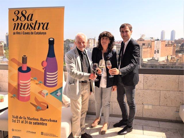 Manel Casals (Gremi Hotels Barcelona) consellera T. Jordà, Salvador Puig(Incavi)