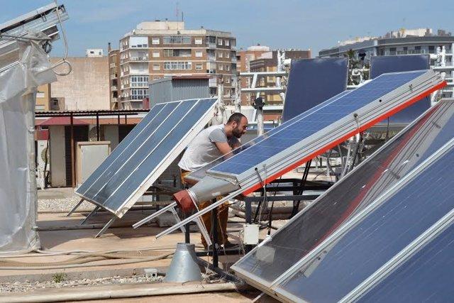 Panel solar experimental