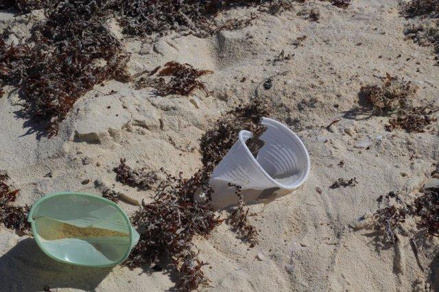 Plástico en la playa, contaminación, recurso, medio ambiente