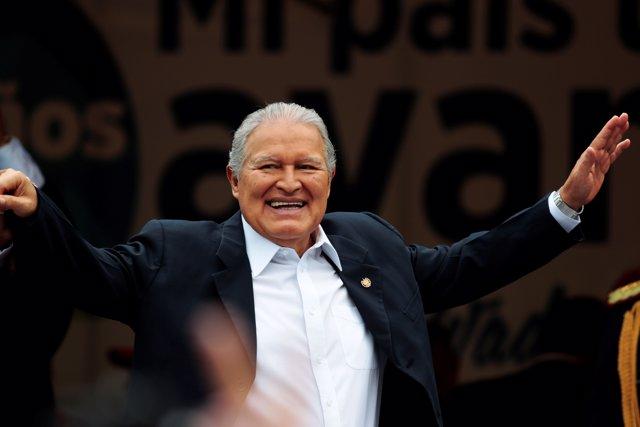 El presidente de El Salvador, Salvador Sánchez Cerén.
