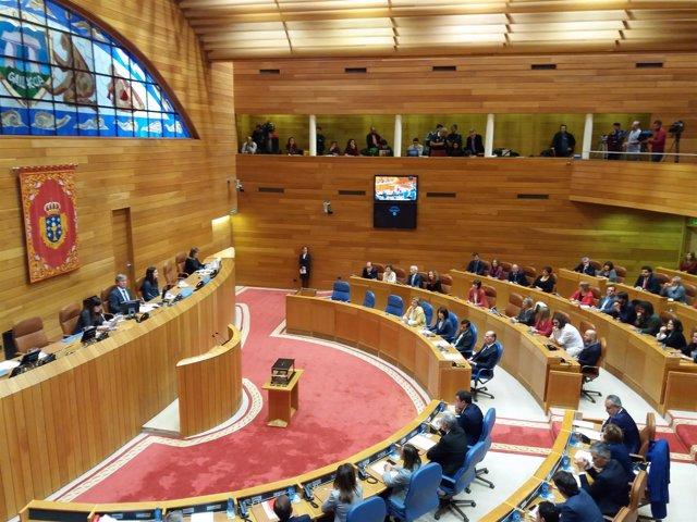 Hemiciclo galego no arranque da X Lexislatura