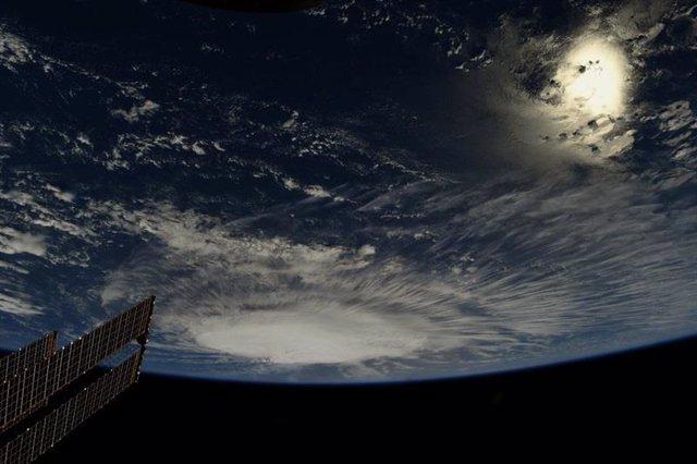 El huracán 'Florence' visto desde la Estación Espacial Internacional