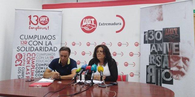 Secretaria general de UGT Extremadura, Patrocinio Sánchez