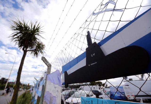 Símbolos en apoyo a la búsqueda del ARA San Juan