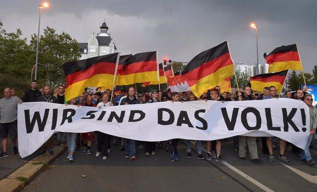 Movilización ultraderechista en Chemnitz