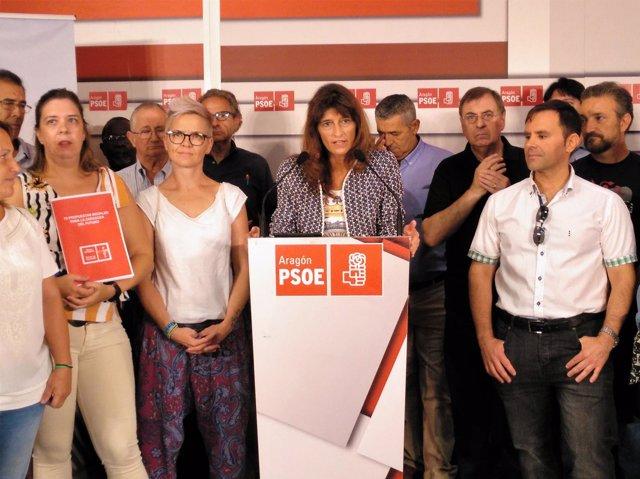 Dueso en la presentación de su programa a las primarias del PSOE a la Alcaldía.