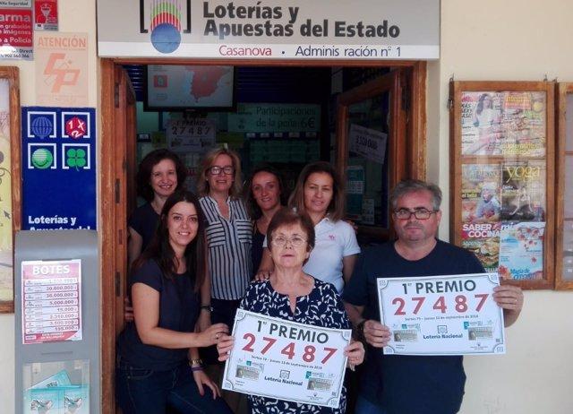 Responsables de la Administración de Loterías 1 de Villanueva de los Infantes