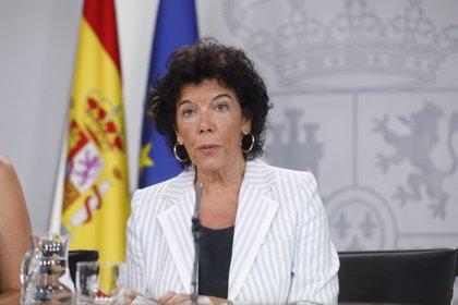 """Celáa siente la """"pérdida"""" de Montón del Consejo de Ministros, una """"excelente y ejemplar ministra"""""""