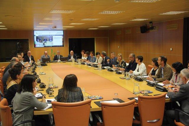 Reunión de Ortuzar y Urkullu con los parlamentarios del PNV