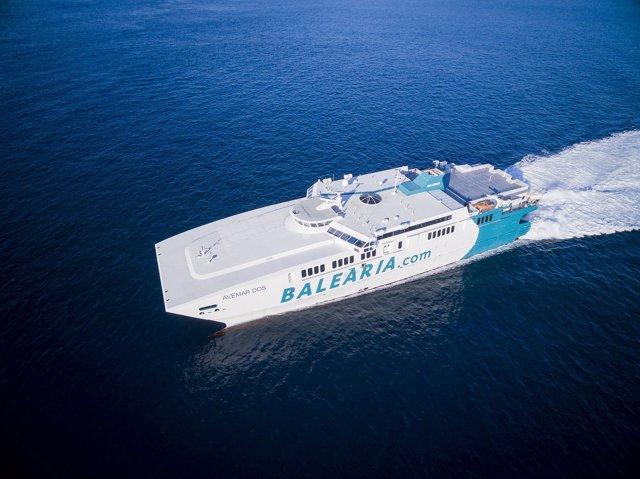 Buque de la naviera Balearia
