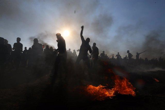 Disturbios en la frontera entre Israel y Gaza