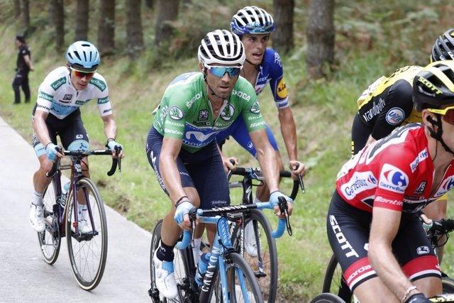 Alejandro Valverde (Movistar) en la etapa 19 de La Vuelta 2018