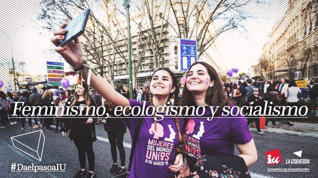 Imagen de la campaña de IU Madrid