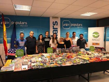 NNGG entrega a distintas entidades sociales de Baleares el material escolar recolectado durante una campaña de recogida