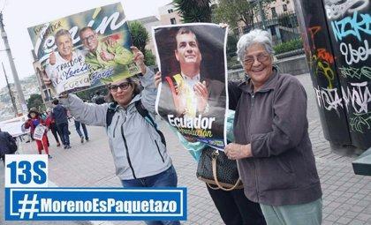 Marcha de simpatizantes de Rafael Correa en contra del Gobierno de Moreno
