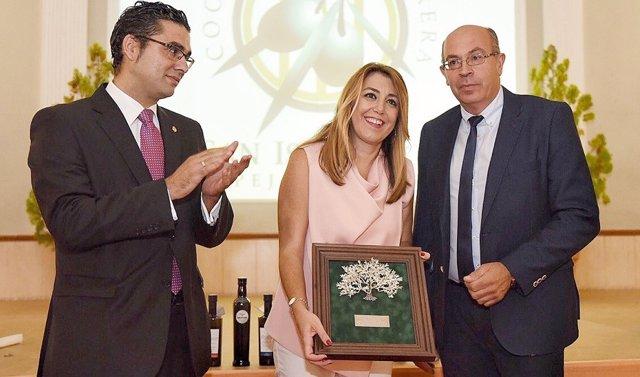 Díaz recibe en Espejo el premio Cooperativa San Isidro 2018