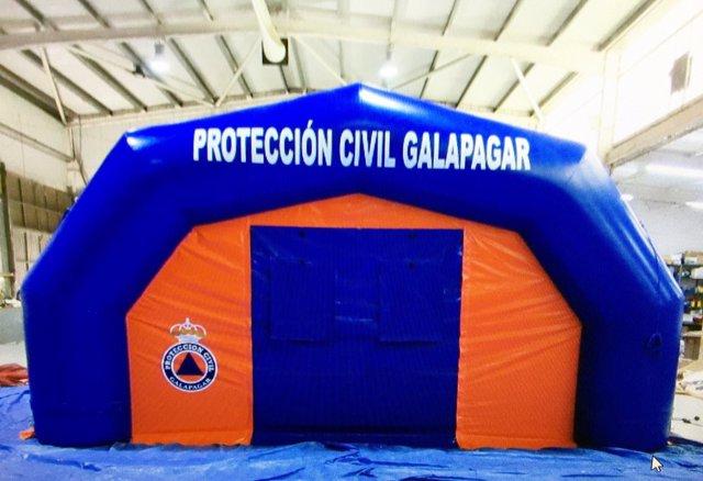 Hospital de campaña de Protección Civil de Galapagar