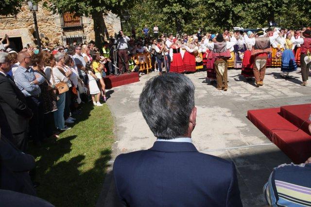 Miguel Ángel Revilla en los actos de la Bien Aparecida