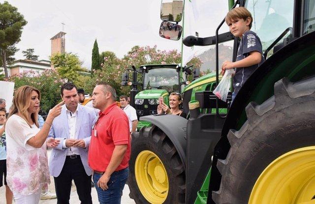 Visita de la presidenta de la Junta, Susana Díaz, a Agropriego