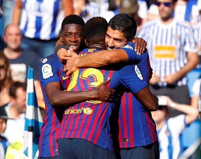 Real Sociedad FC Barcelona Dembélé Luis Suárez