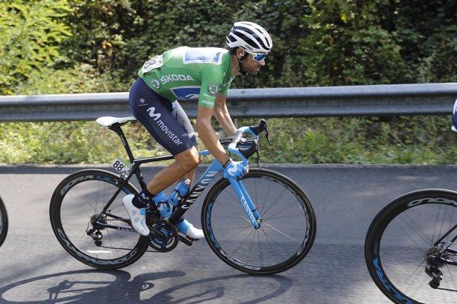Alejandro Valverde, en los Lagos de Covadonga