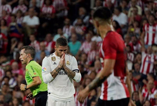 Sergio Ramos en San Mamés