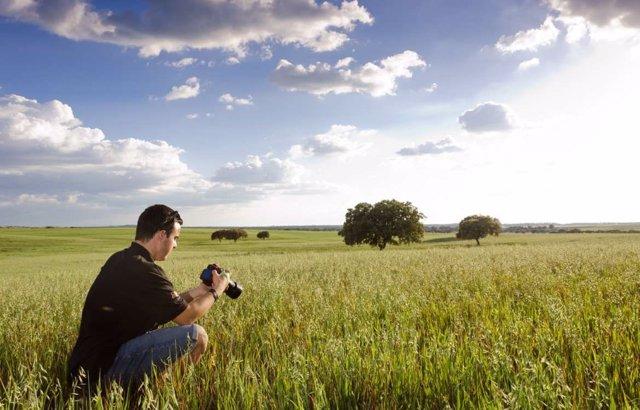 Un fotógrafo en la dehesa