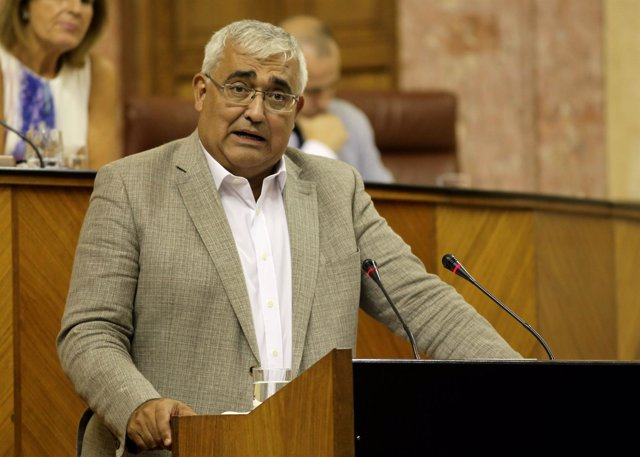Antonio Ramírez de Arellano, en el Parlamento de Andalucía.