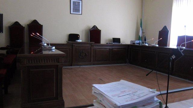 Sala de vistas de un juzgado