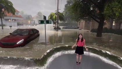 La espectacular simulación de los efectos del huracán 'Florence' que se ha vuelto viral