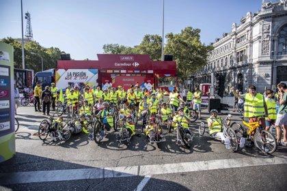 Cerca de un centenar de personas participan en la carrera inclusiva de Ecovidrio en última etapa de La Vuelta 2018