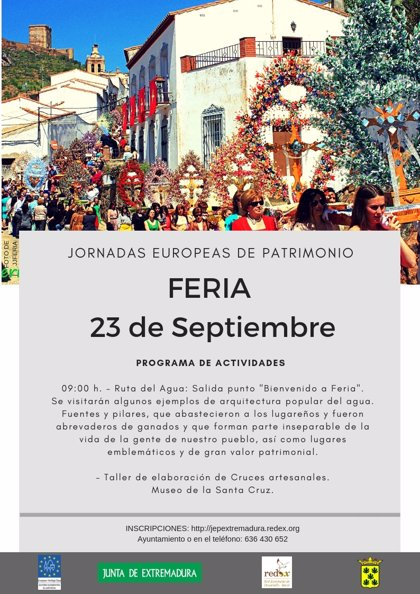Las Jornadas Europeas del Patrimonio difundirán los monumentos de Feria (Badajoz) y las Cruces de Mayo