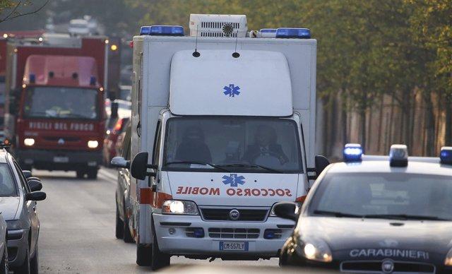Una ambulancia en Italia