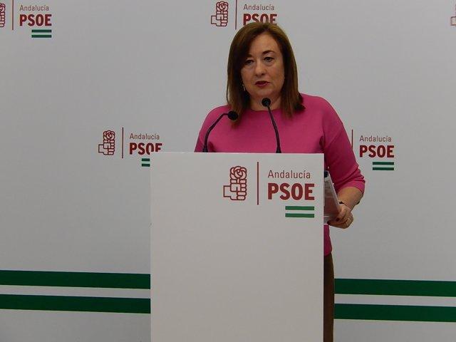 La parlamentaria del PSOE-A Soledad Pérez