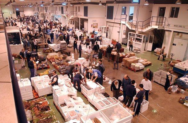 Mercamálaga, Lonja, Pescado, Compra, Mercado, Abastos, Marisco, fruta, verdura