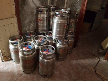 Intervenidas en Melilla 18 bombonas de butano en una casa donde se vendían ilegalmente