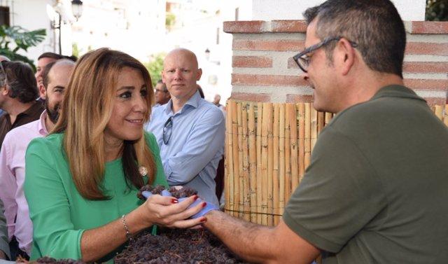 Susana Díaz en el Día de la Pasa de El Borge