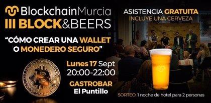 El III Block&Beers de Blockchain Murcia aborda este lunes la creación de la wallet o monedero virtual
