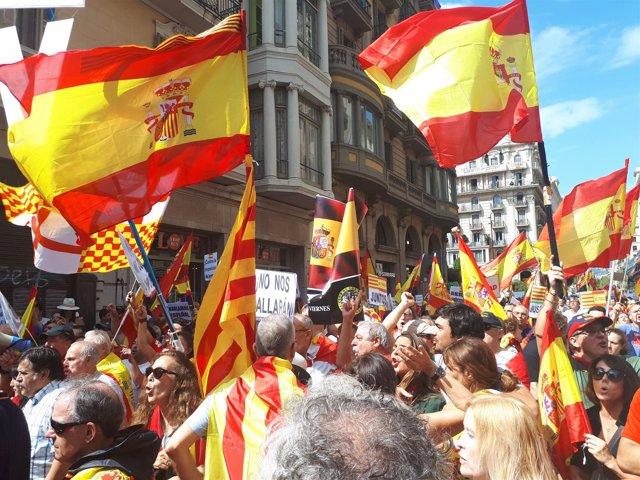 Manifestación de la Asociación Hablemos Español