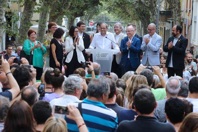 Quim Torra inaugura el tramo central de la riera de Arenys de Munt