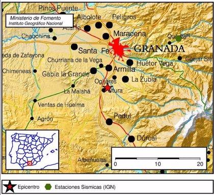 Registrado un terremoto de magnitud 2,5 con epicentro en Otura (Granada)