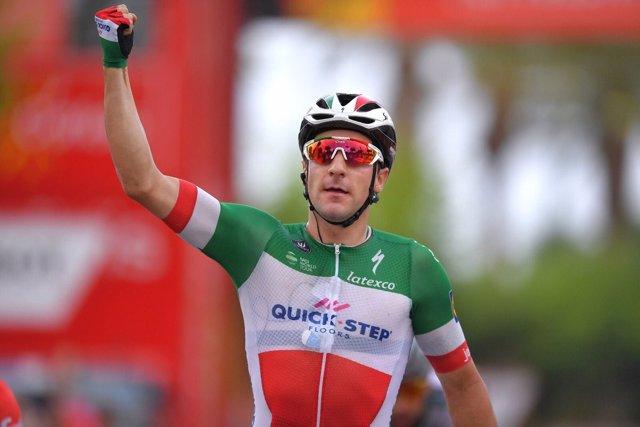 Viviani (Quick-Step Floors), tras ganar la 21ª etapa de la Vuelta a España