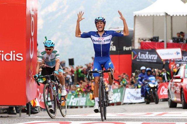 Enric Mas (Quick-Step Floors), tras ganar una etapa en La Vuelta