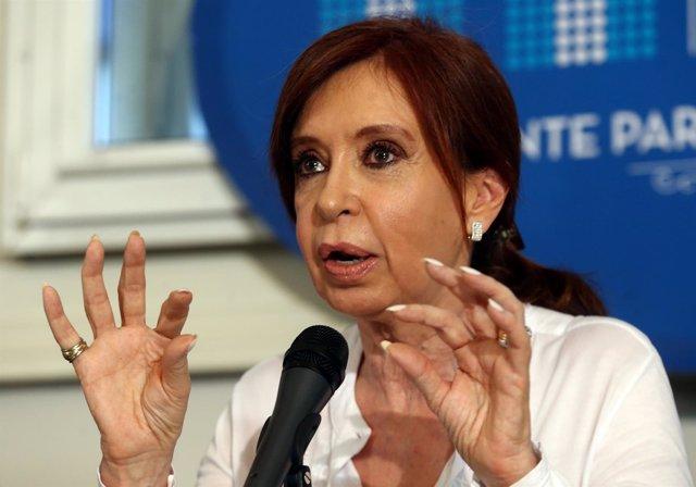 La expresidenta de Argentina Cristina Fernández de Kirchner