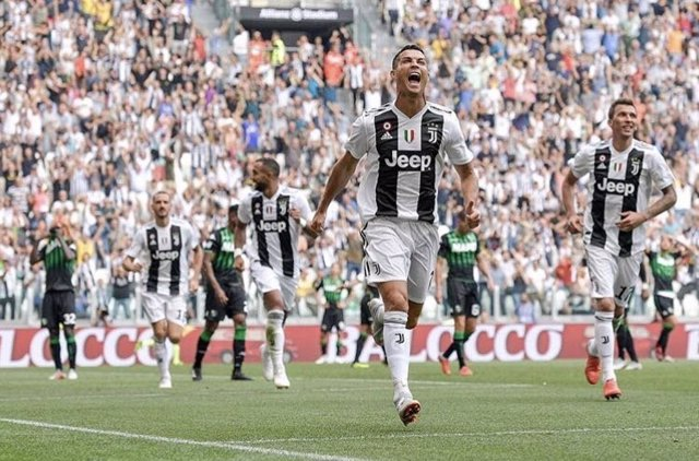 Cristiano Ronaldo celebra un gol con la Juventus
