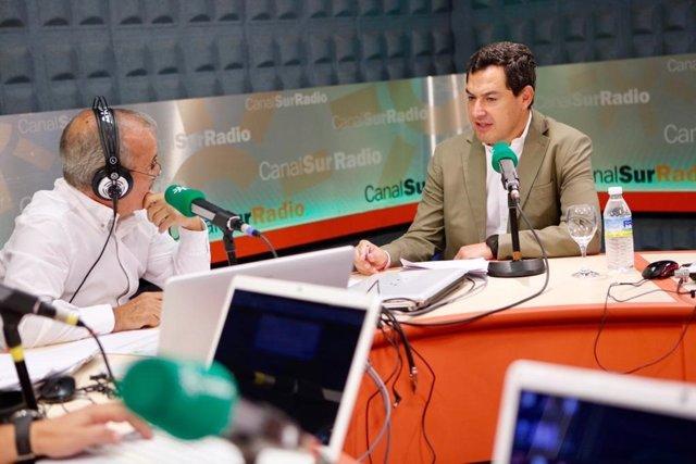Juanma Moreno, este lunes