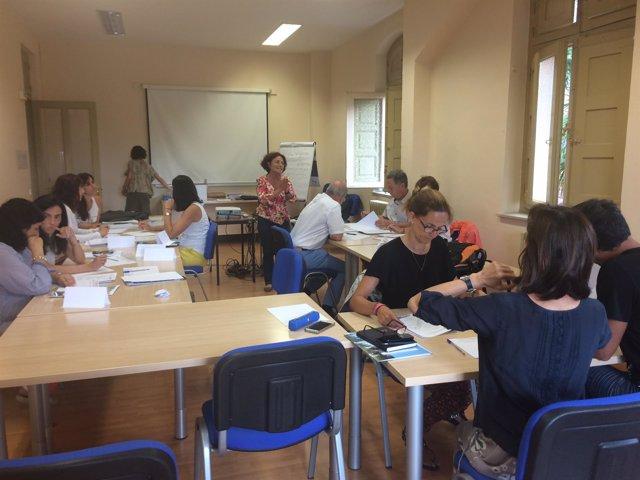 Profesionales sanitarios en las sesiones sobre el nuevo Plan de Salud Mental