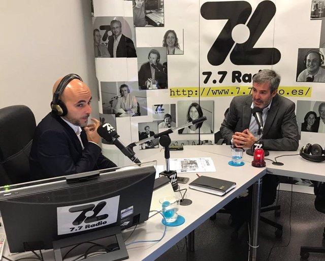 Clavijo, en la entrevista en '7.7 radio'