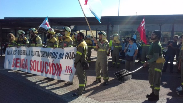 Trabajadores de Seaga en huelga