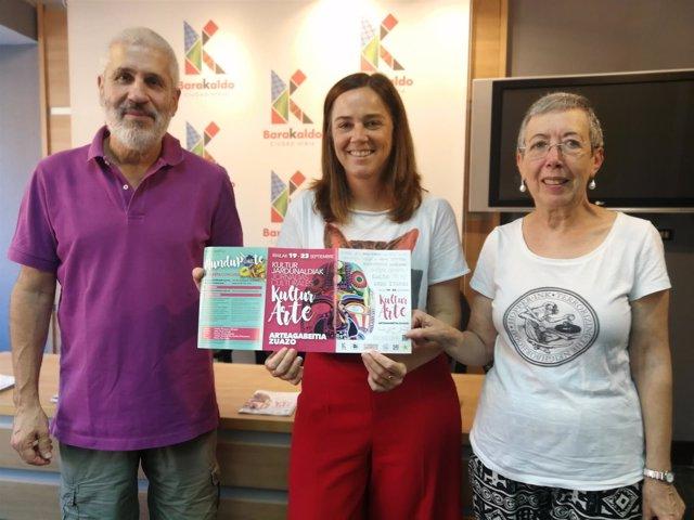 Txiki Castaños, Nerea Cantero y Lourdes Durán